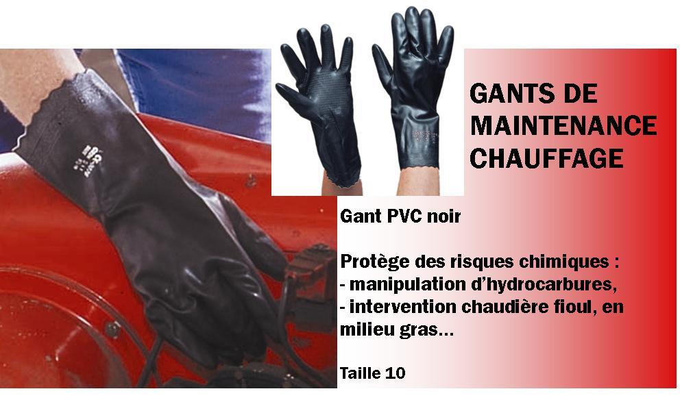 Gants maintenance chauffage
